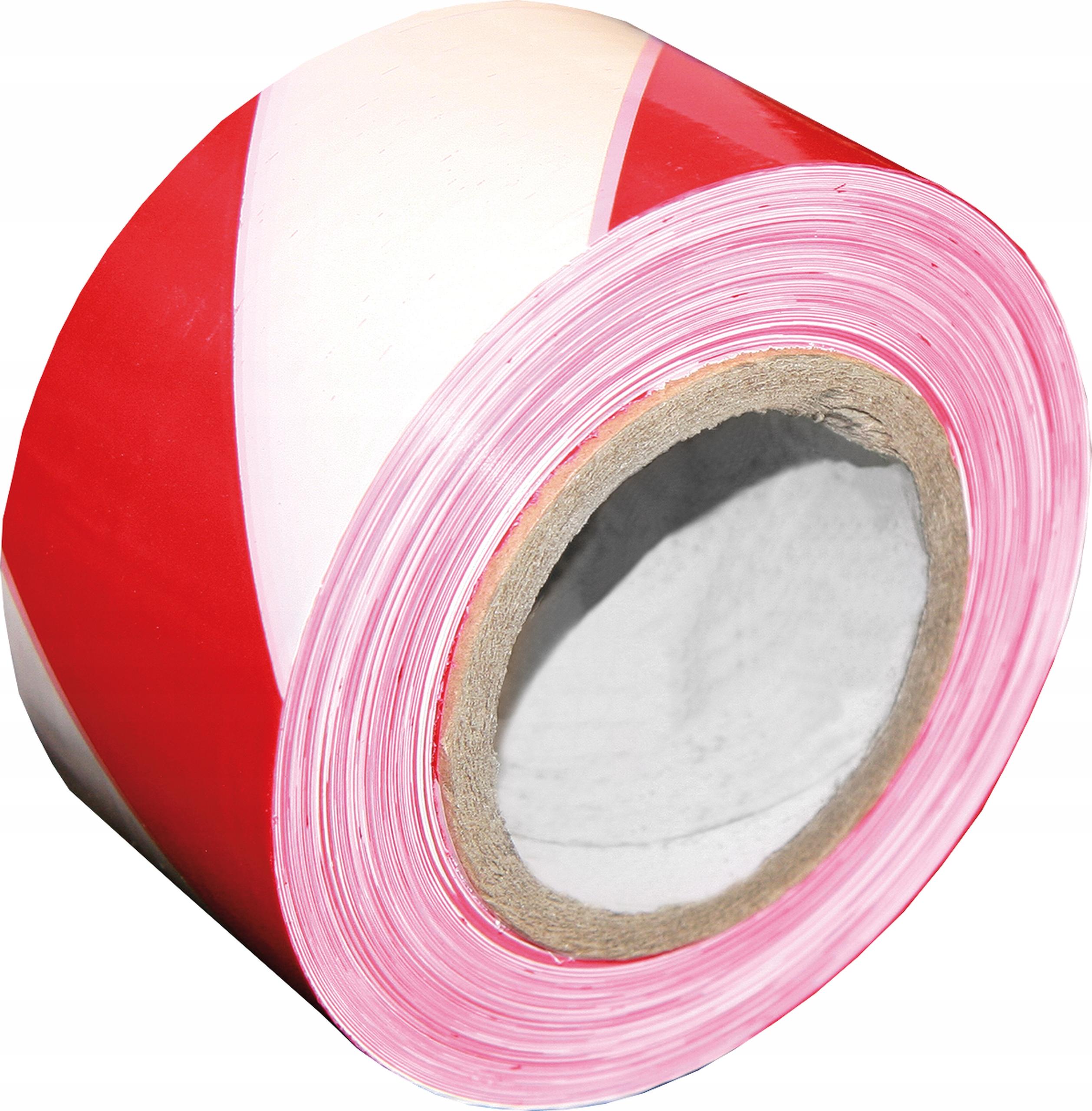 УФ-устойчивая бело-красная предупреждающий лента 100м