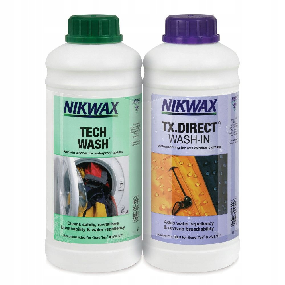 Nikwax Tech Wash 1L + TX. Direct Wash-In 1Л
