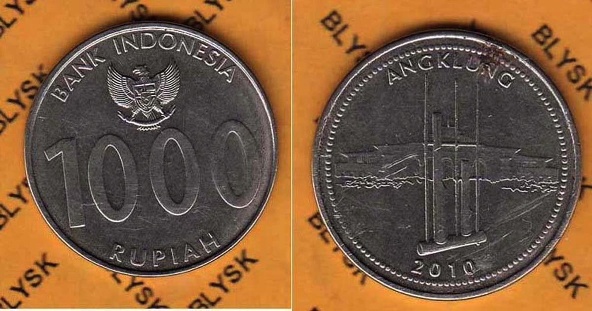 INDONEZJA /KM-70/ 1000 RUPIAH 2010 r. NR-01