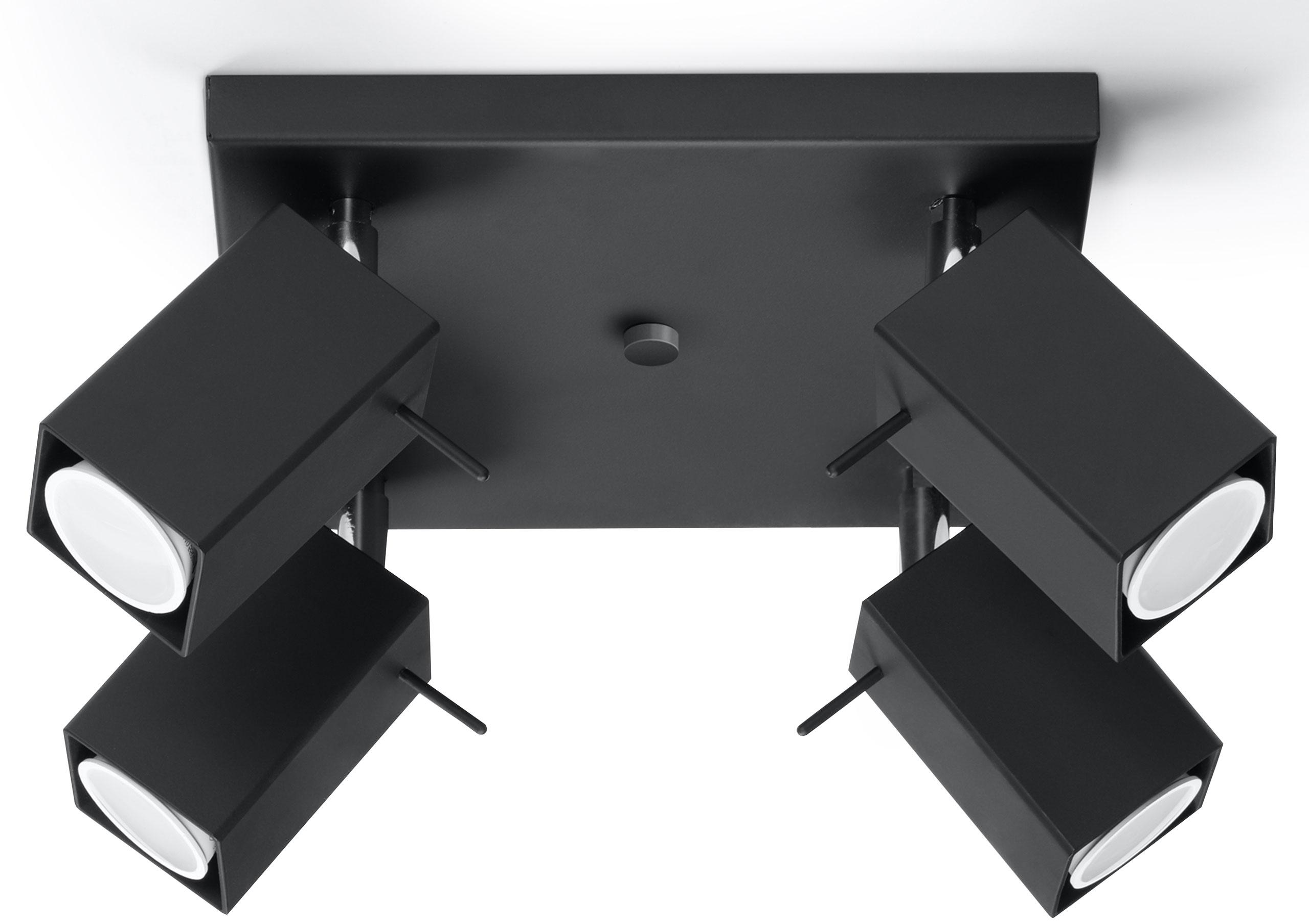 Moderné Stropné MERIDA 4 Black LED! SOLUX