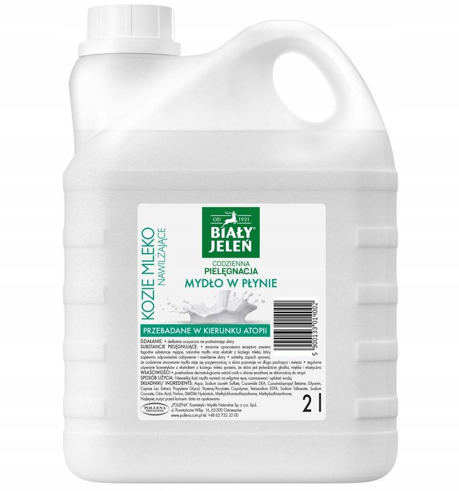 Bieleho jeleňa Tekuté mydlo kozie mlieko 2L Hipoaler