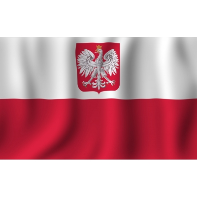 Item The flag of Poland Flag of Poland with Godłem140x90 see release.