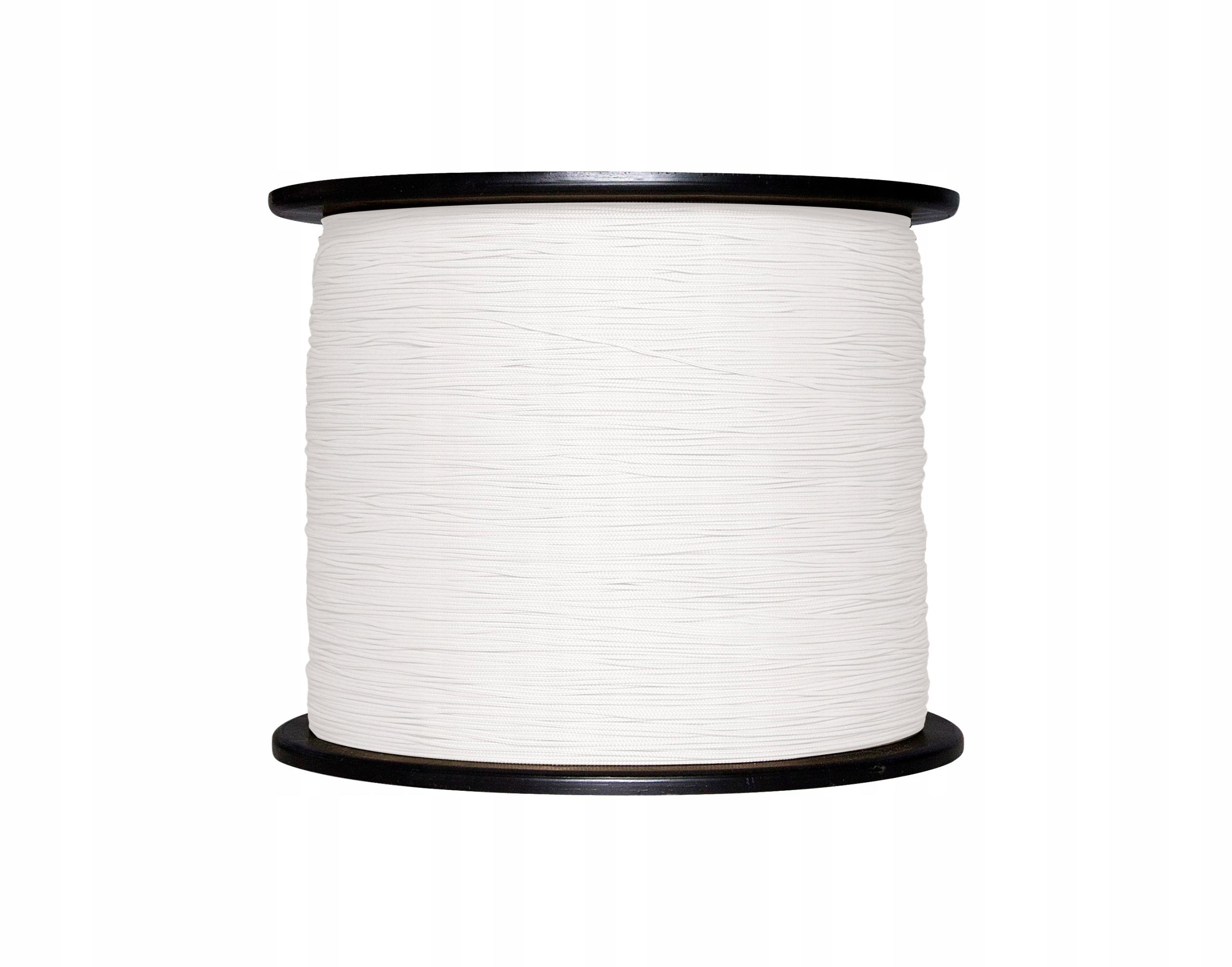 MOCNY Sznurek do plis rolet 0,8mm biały(01) 22m