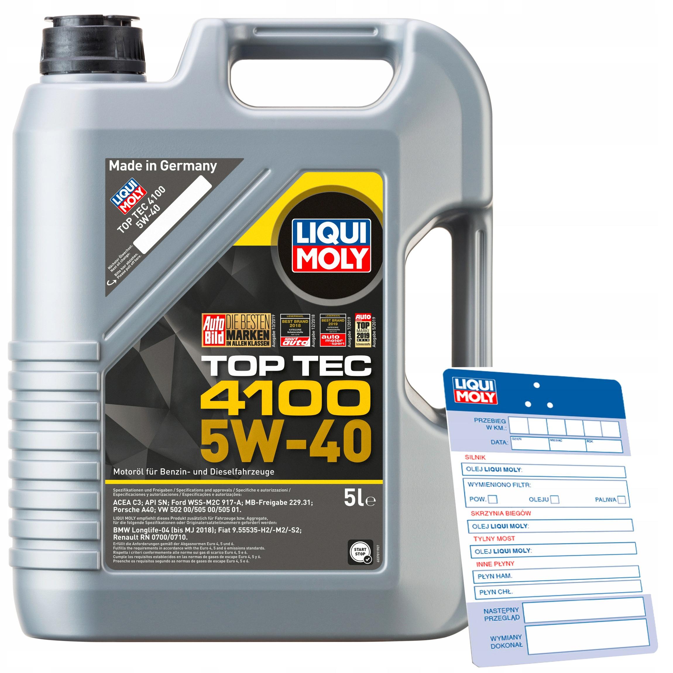 Olej Liqui Moly Top Tec 4100 5W40 5L
