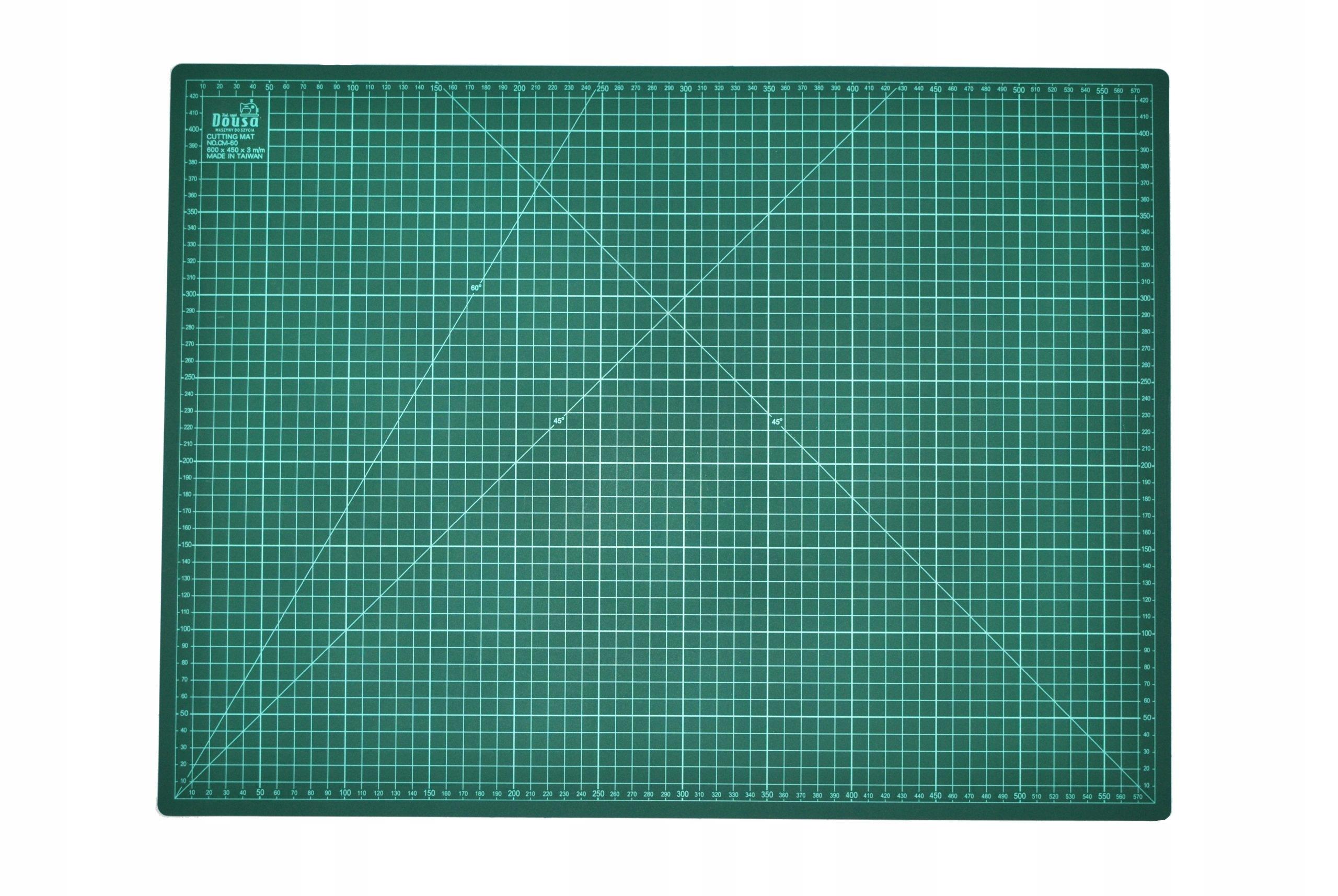 Коврик для резки односторонний 600х450х2мм зеленый