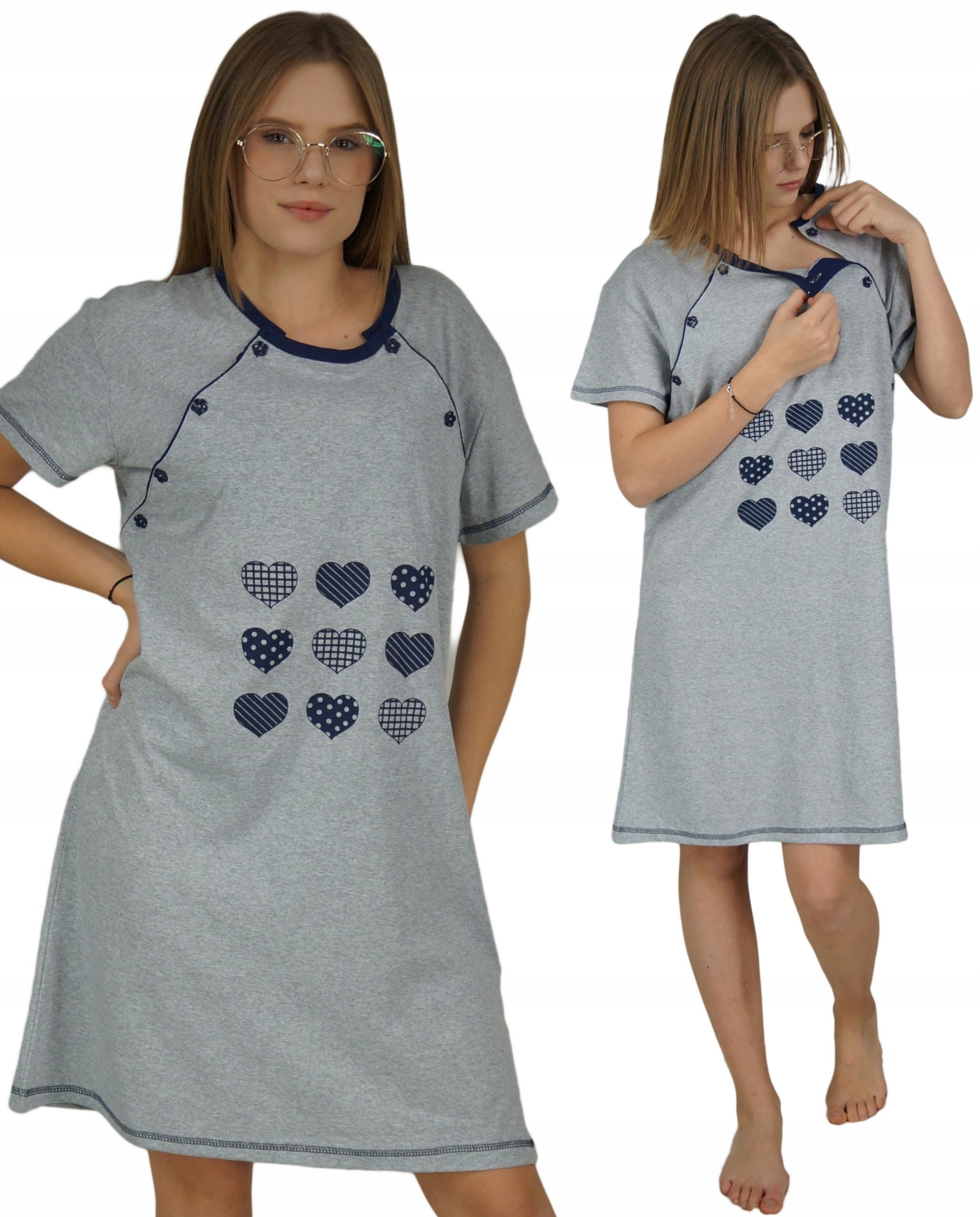 Koszula Koszulka nocna ciążowa do karmienia M 38
