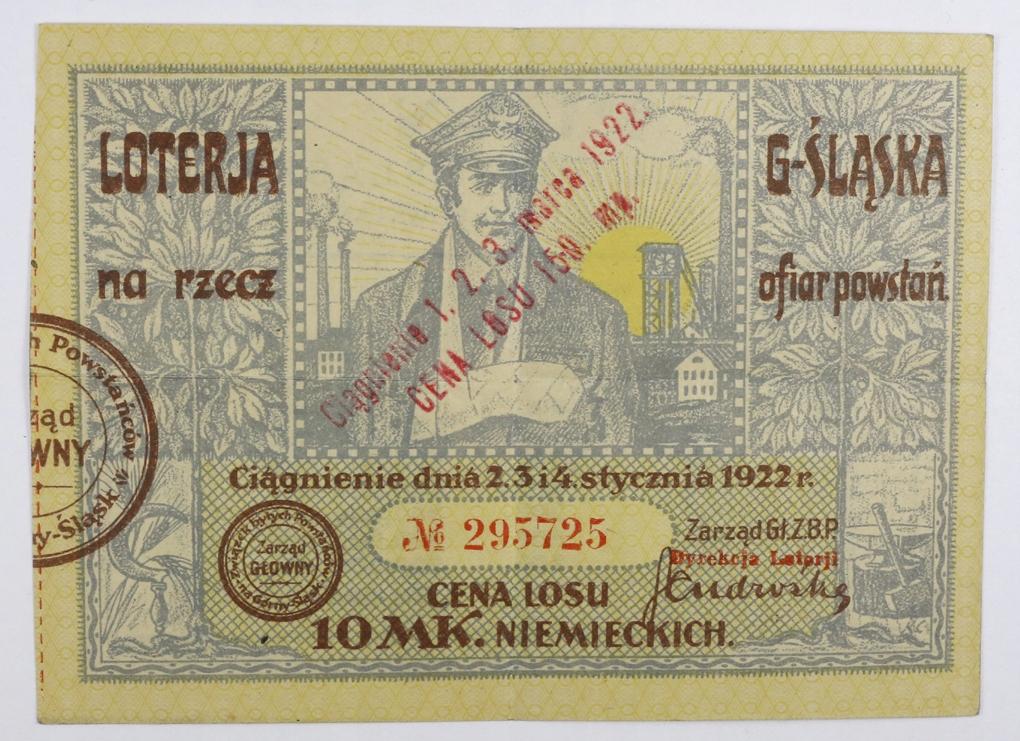 Loteria Górnośląska Na rzecz ofiar powstań 1922 r.