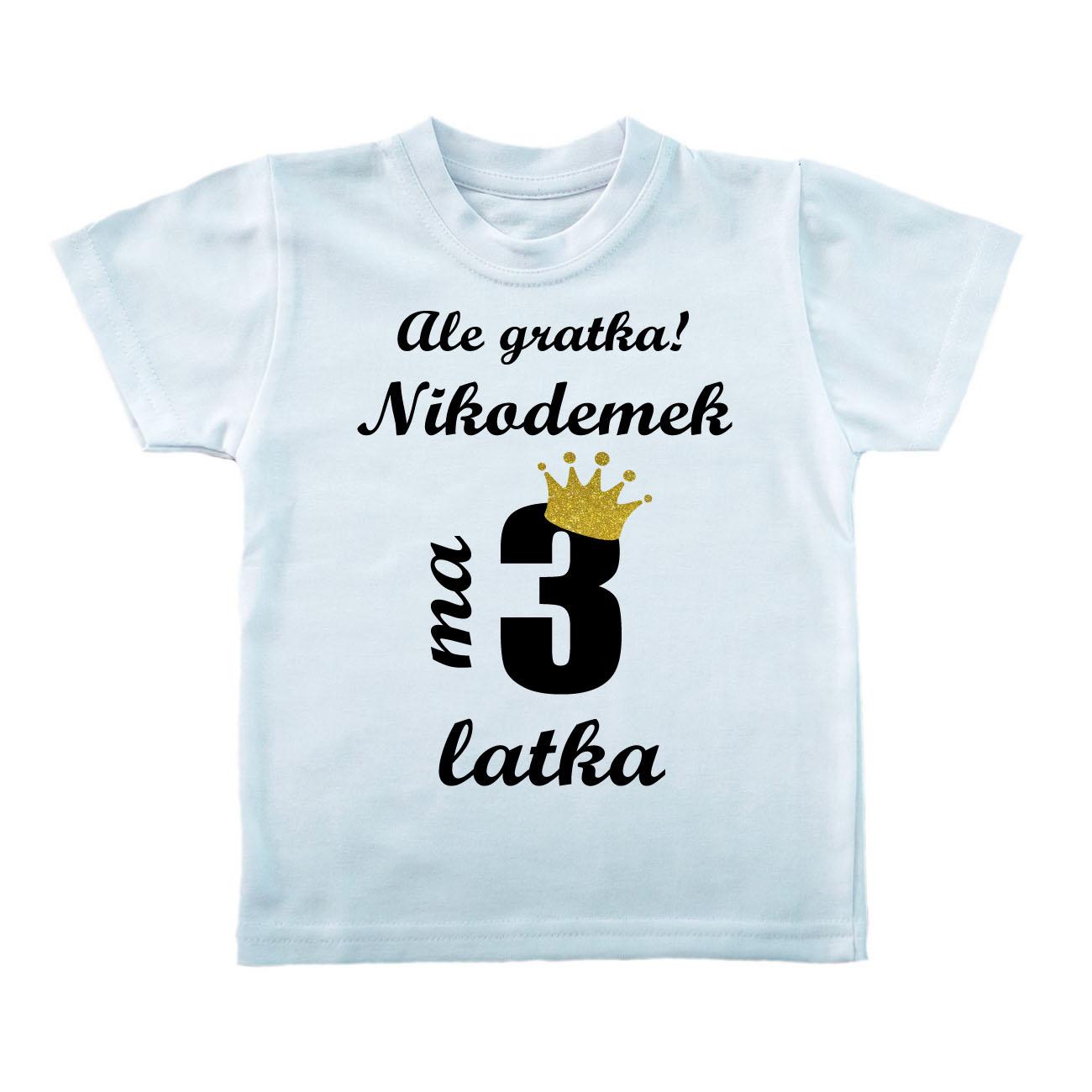 Koszulka Na 3 Urodziny Ale Gratka Mam 3 Latka Imie 8977684935 Allegro Pl