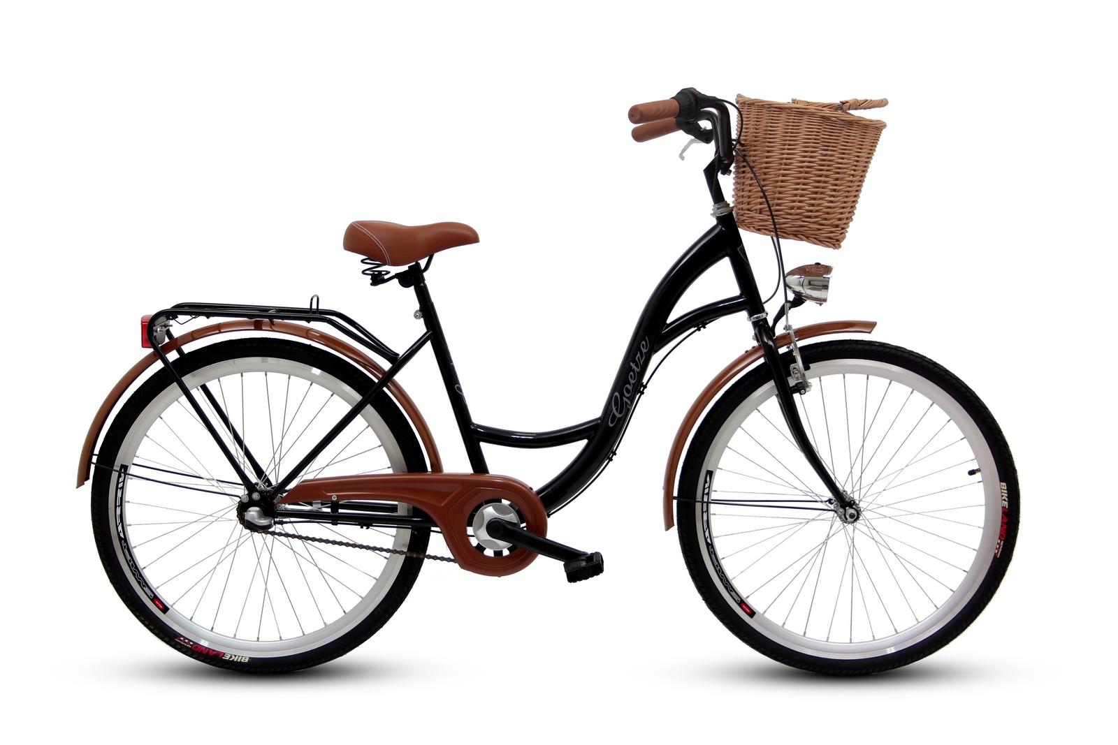 Dámsky mestský bicykel GOETZE 26, 3-rýchlostný kôš zadarmo!  Model Classic263b