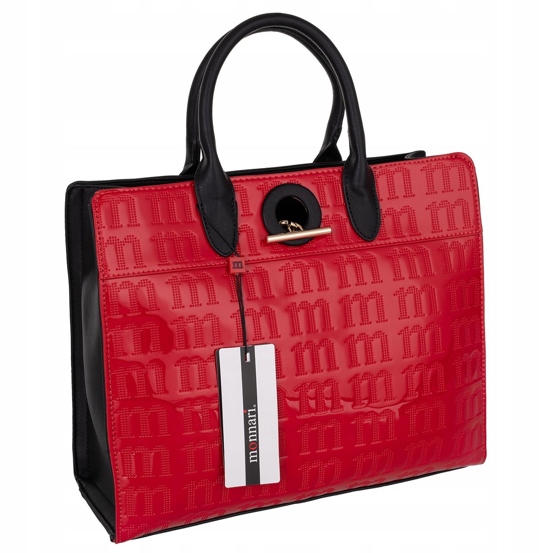 Monnari kuferek czerwony torebka damska do biura
