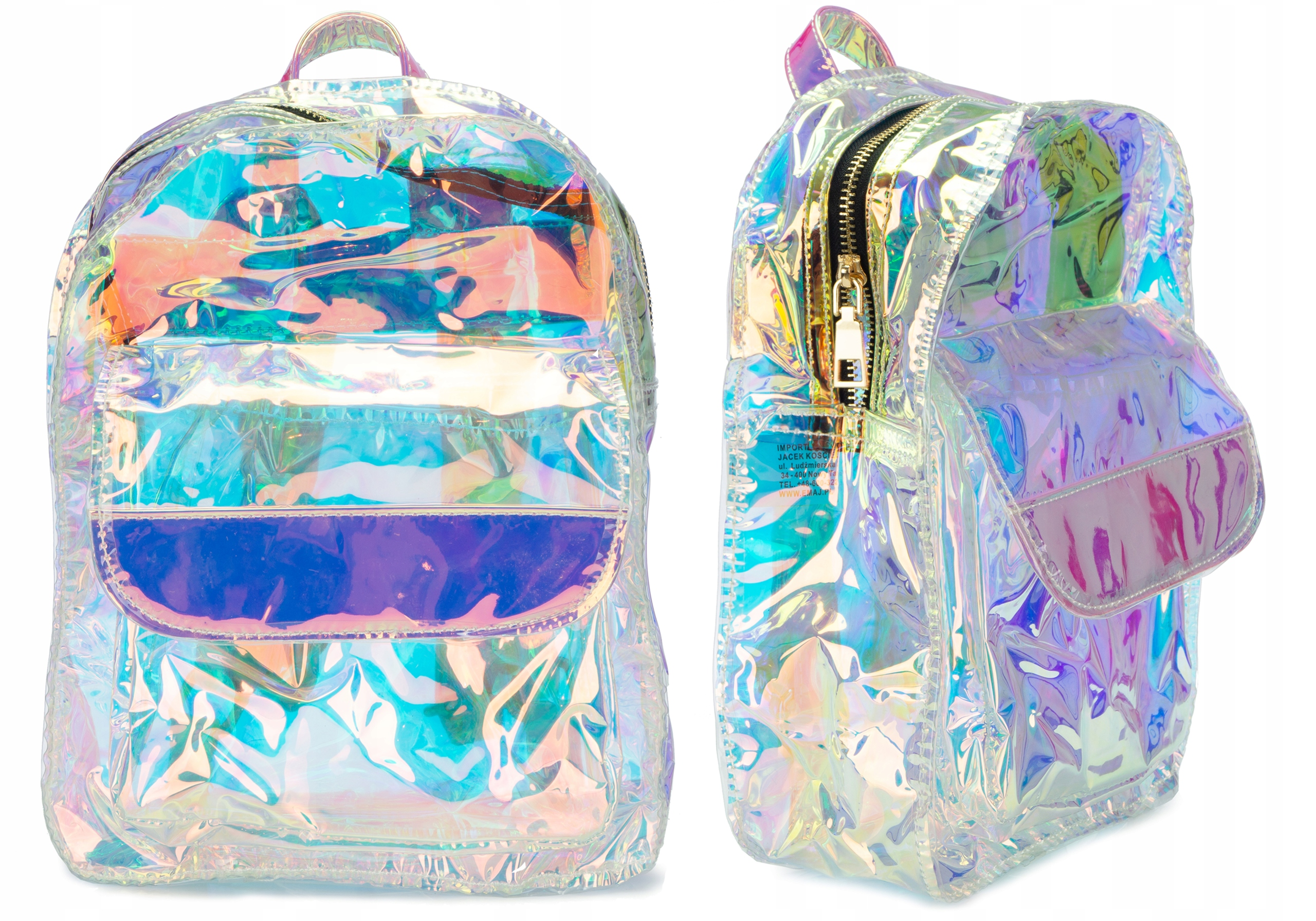 Plecak Hologramowy Lustrzanka Plecaczek E0841 Emaj