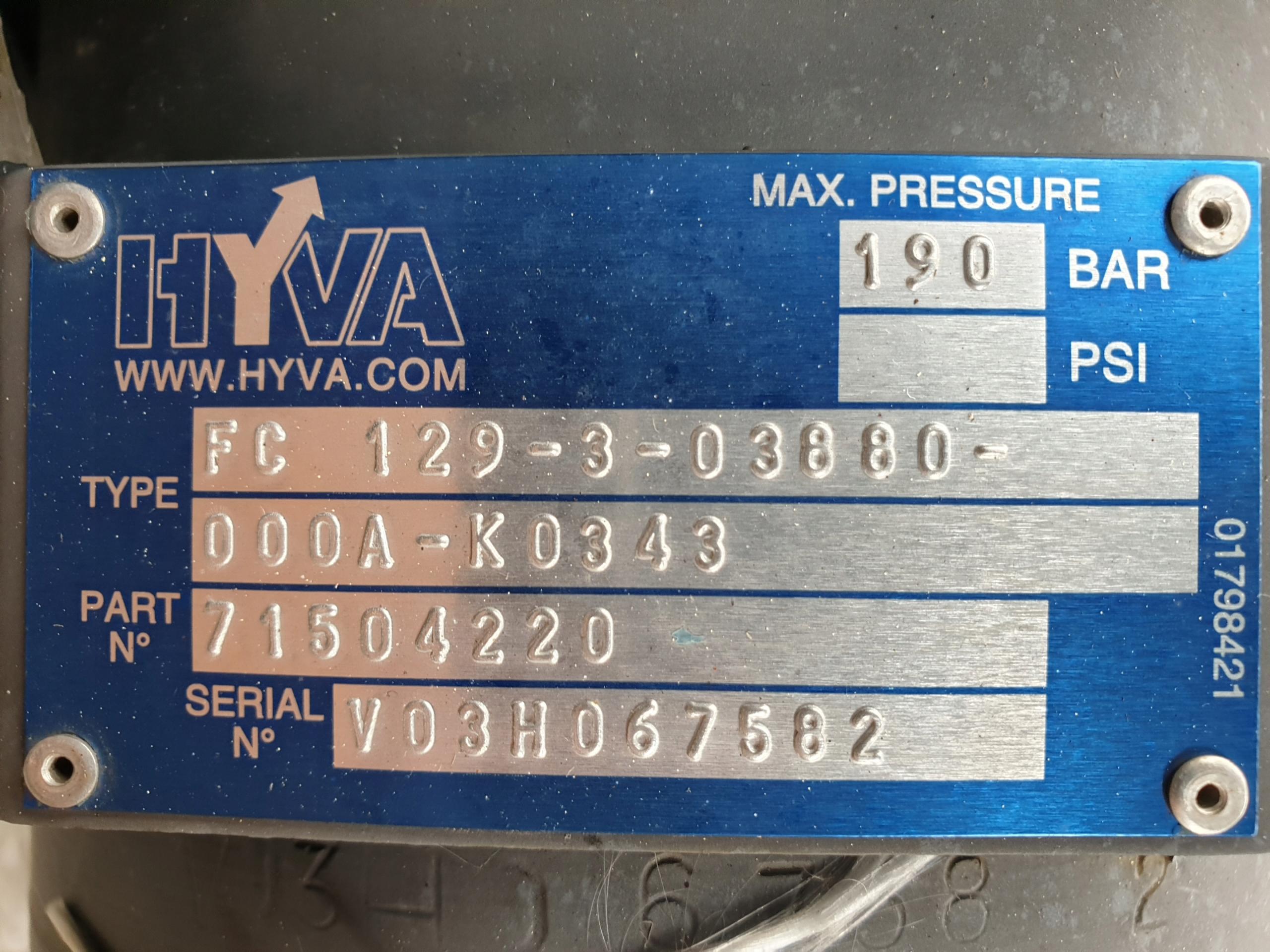 Купить ГИДРАВЛИЧЕСКИЙ ЦИЛИНДР ОПРОКИДЫВАНИЯ HYVA FC-106 12933880 на Eurozakup - цены и фото - доставка из Польши и стран Европы в Украину.