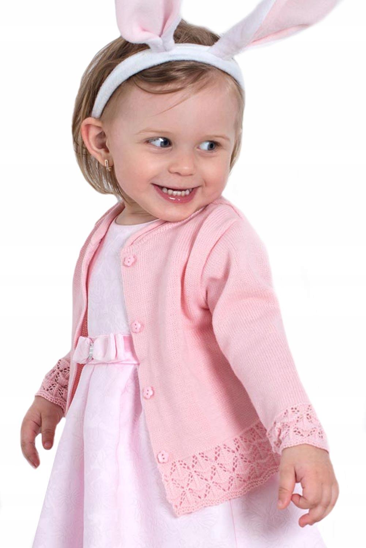 Różowy Sweterek Dziewczęcy 98