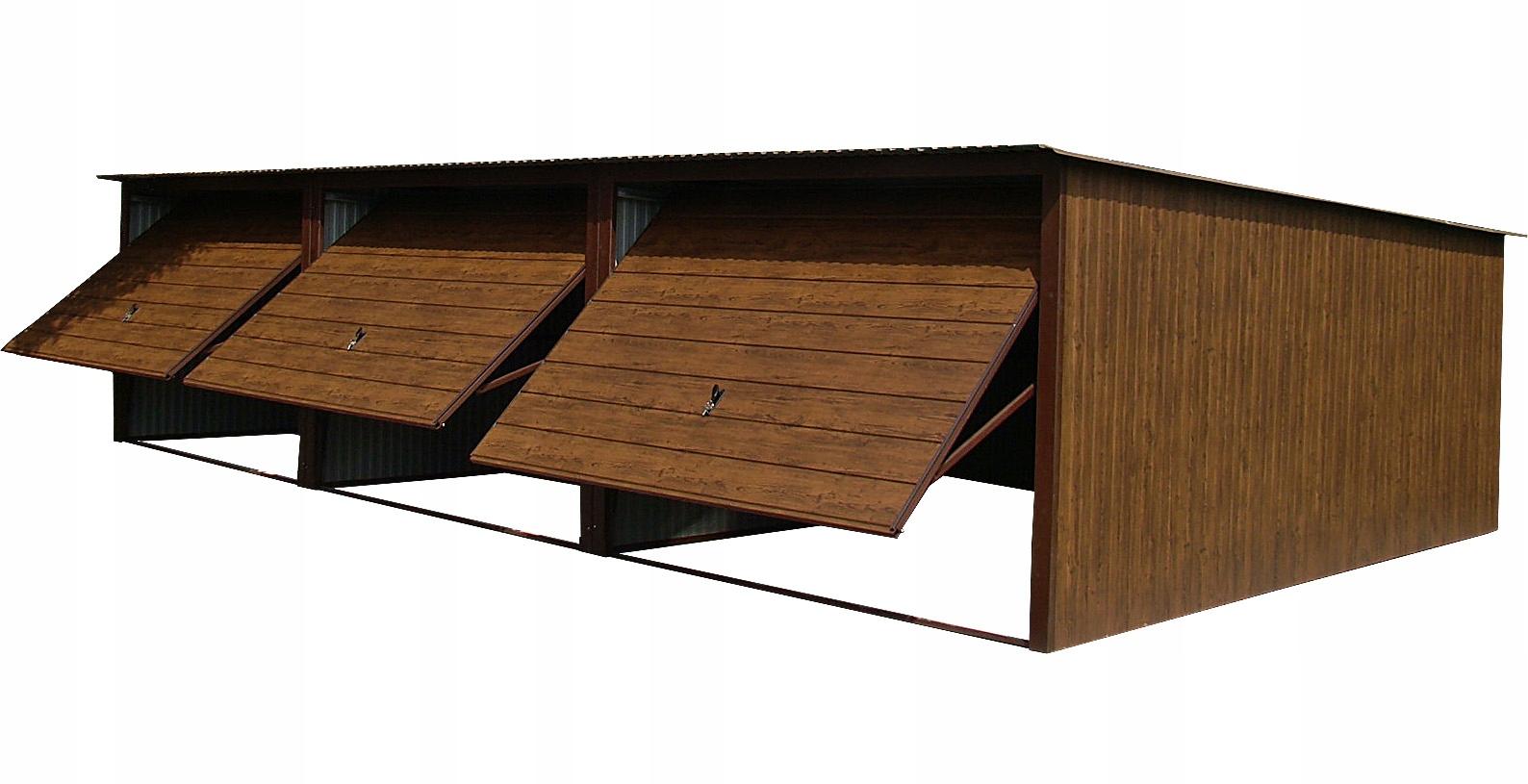 Garaże Blaszane Garaż Blaszany 9x5 Blaszaki Orzech