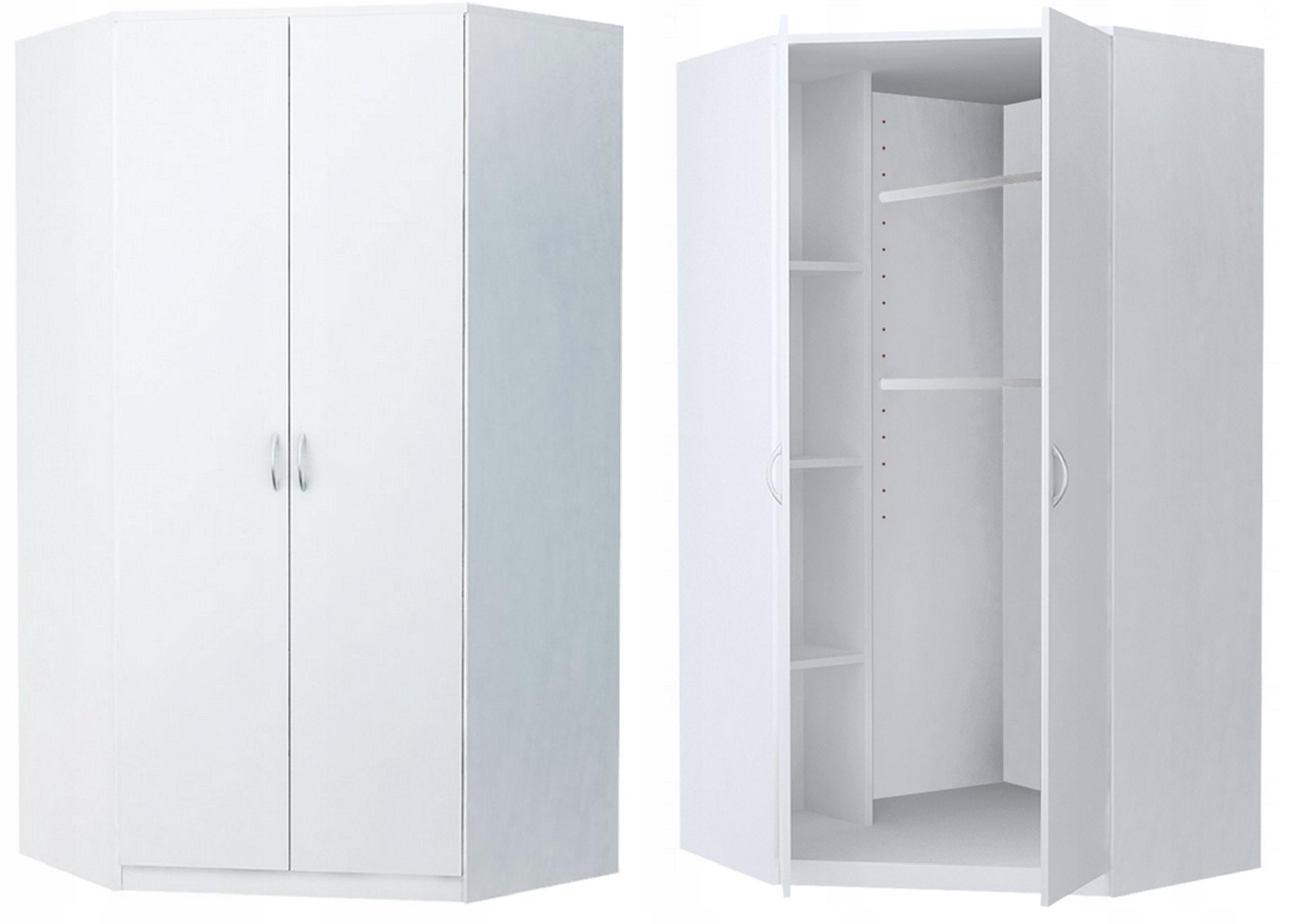Гардероб угловой шкаф CORNER 2D WHITE комод книжный шкаф