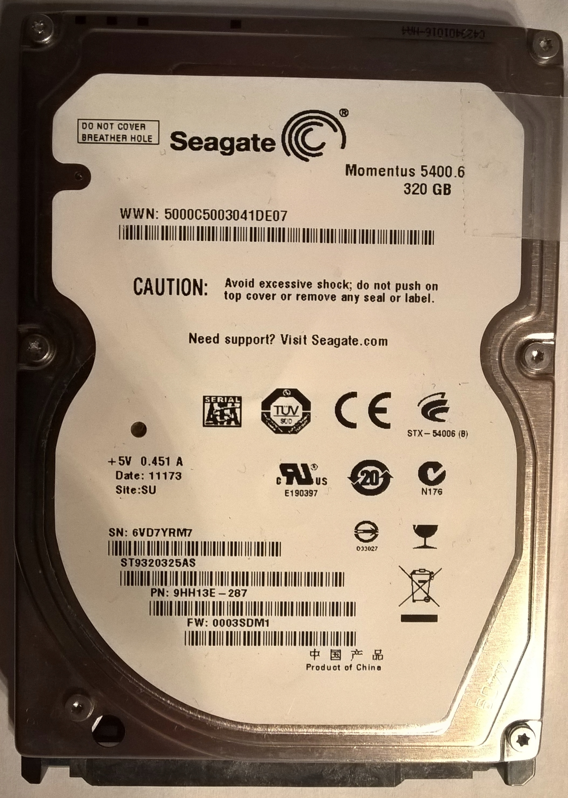 Электроника для HDD HDD Seagate ST9320325AS