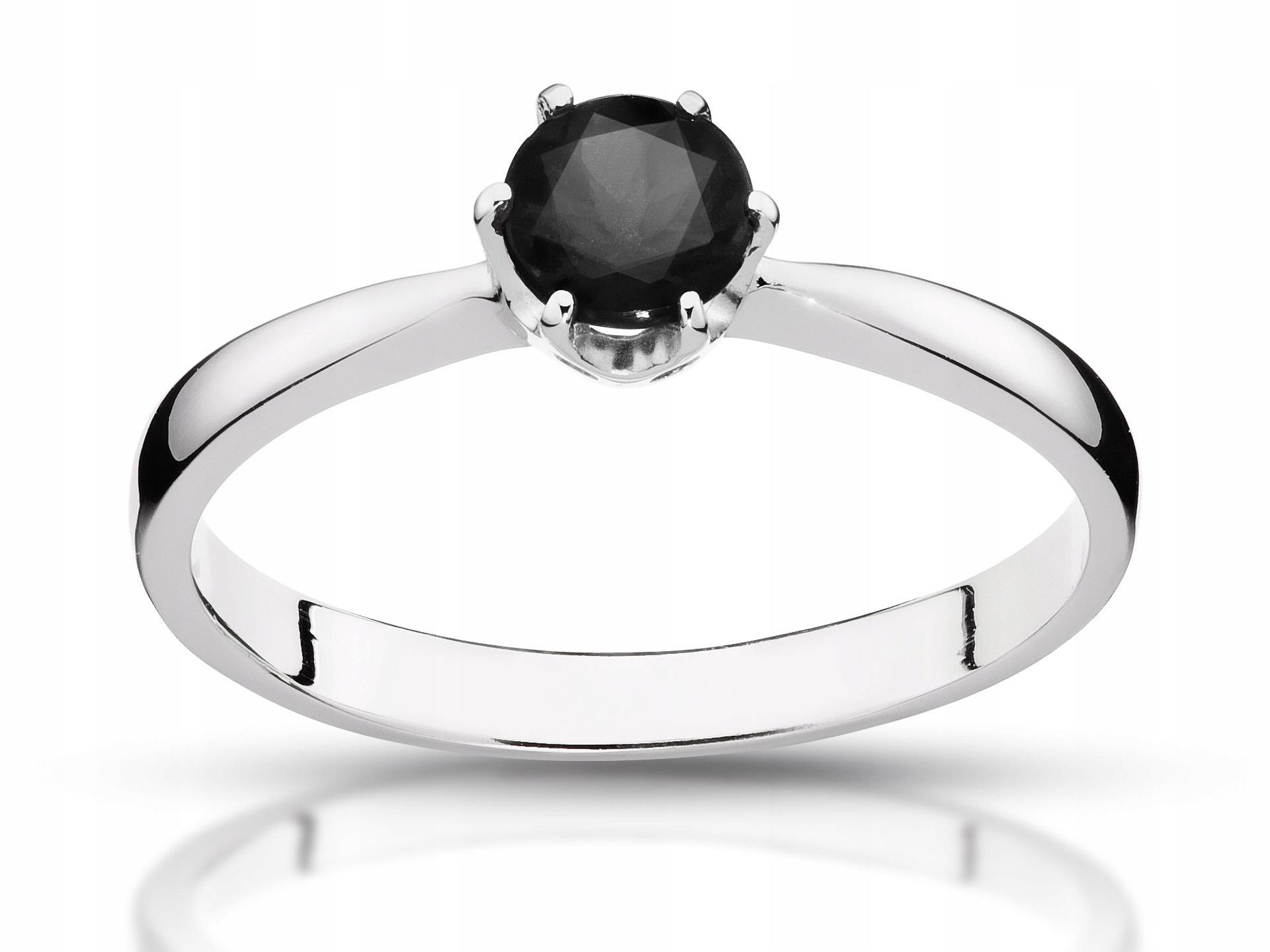 Zásnubný prsteň black diamond 0.50 ct HIT