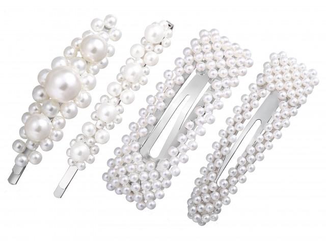Item SET hair pin hair pin silver beads
