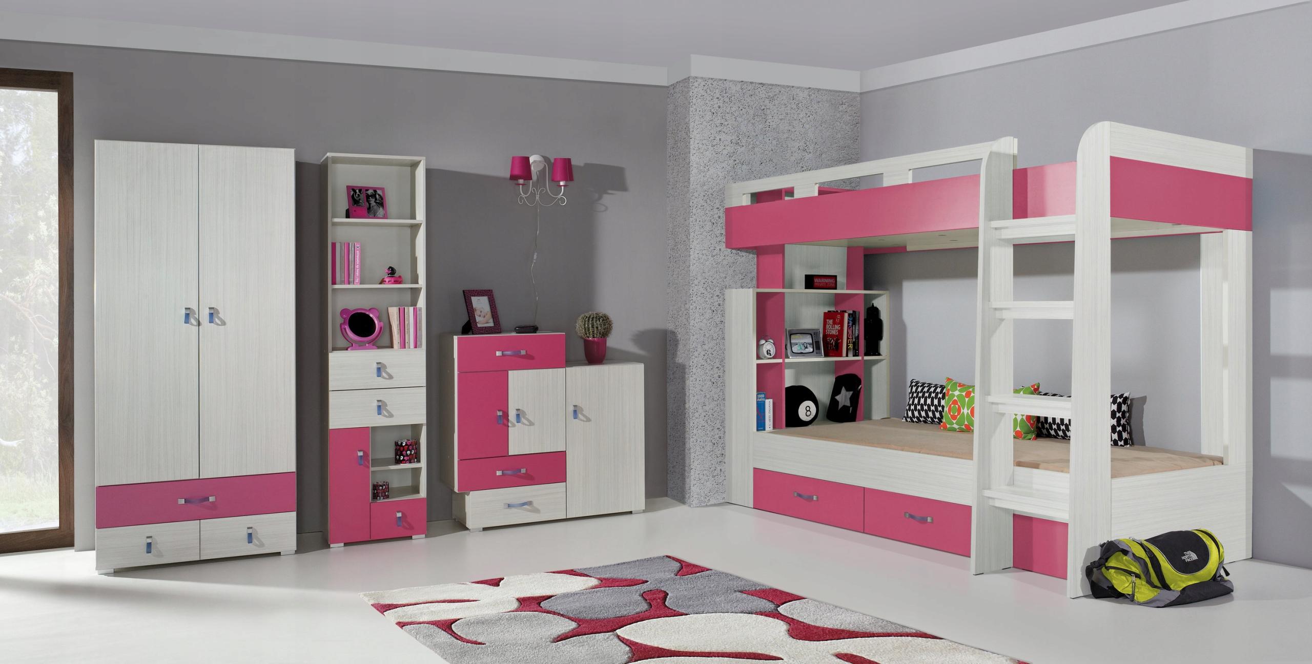24 HODÍN! Dieťa nábytok Komi 1 modrá ružová
