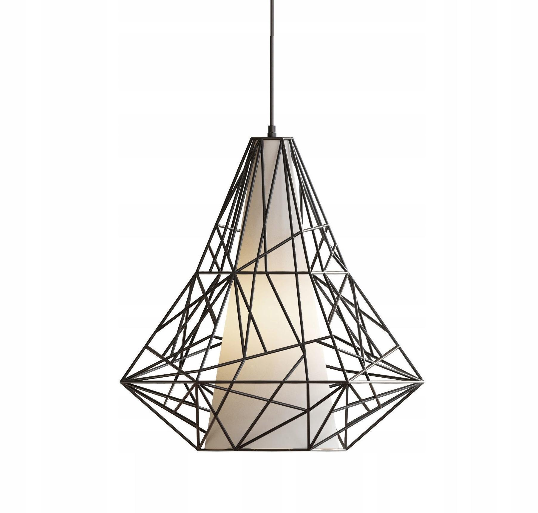 Stropné svietidlo prívesok Diamond lampa VEĽKÉ Podkrovie E27 LED
