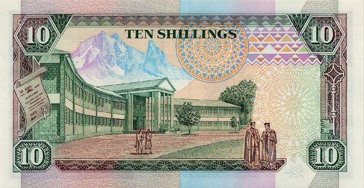 Kenia 10 szylingów Uniwersytet 1989 P-24a