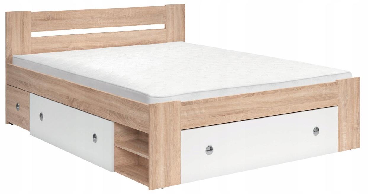 łóżko Stefan 3 Kolory 160x200 Black Red White