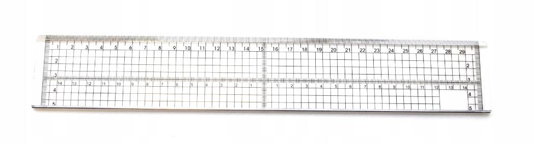 Item Line rectangular transparent 30 cm x 5 cm