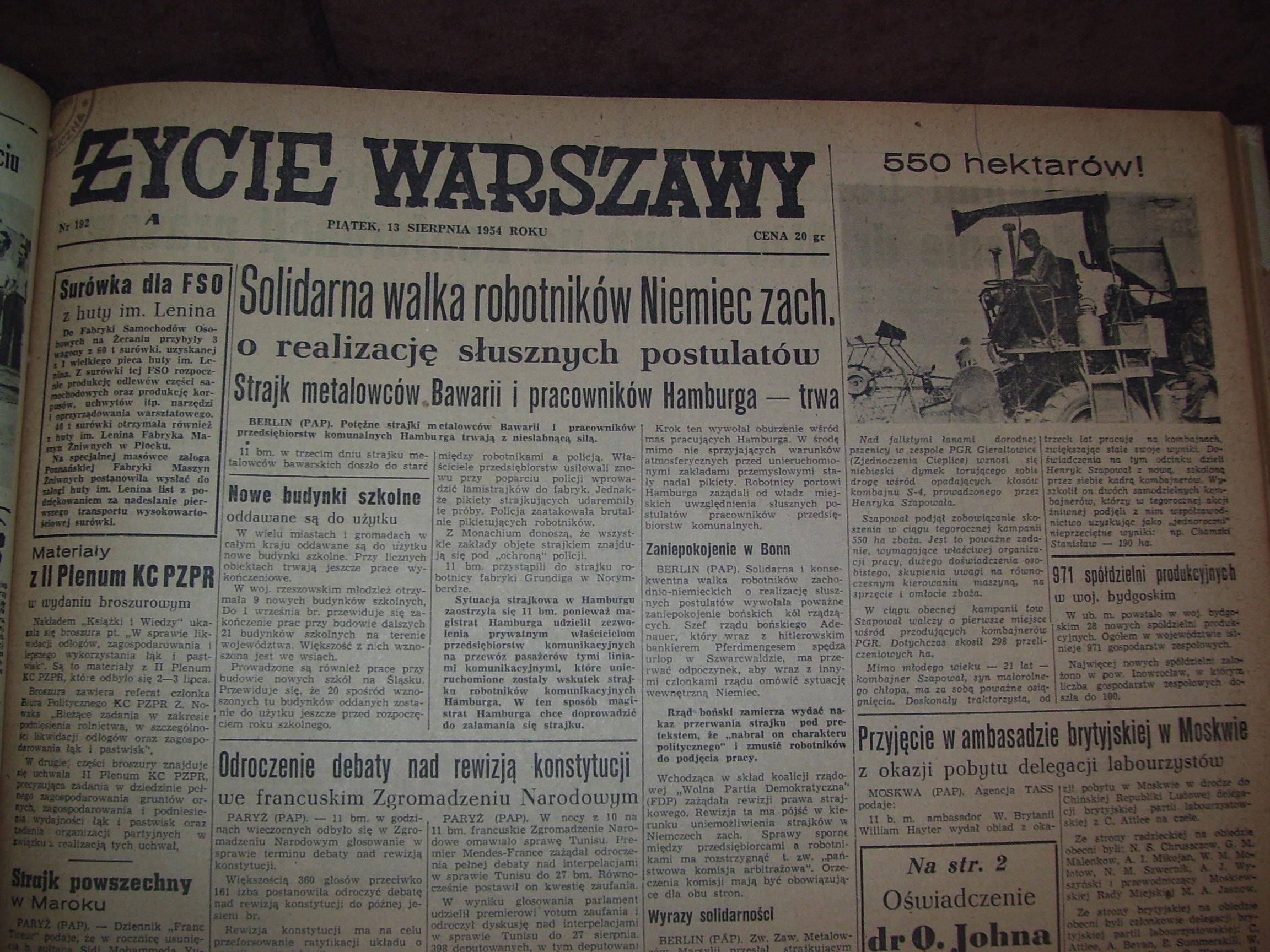 """Item """"LIFE of WARSAW"""" III kw. 1954"""