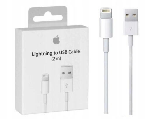 Oryginalny Kabel Lightning 2m iPHONE 5 6 7 8 X 11