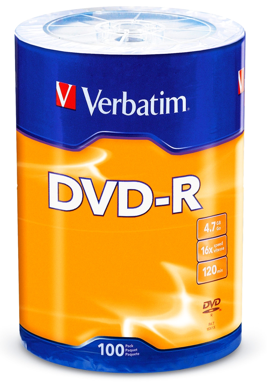 Item The discs are VERBATIM DVD-R 4.7 GB 16x 100pcs cheaper