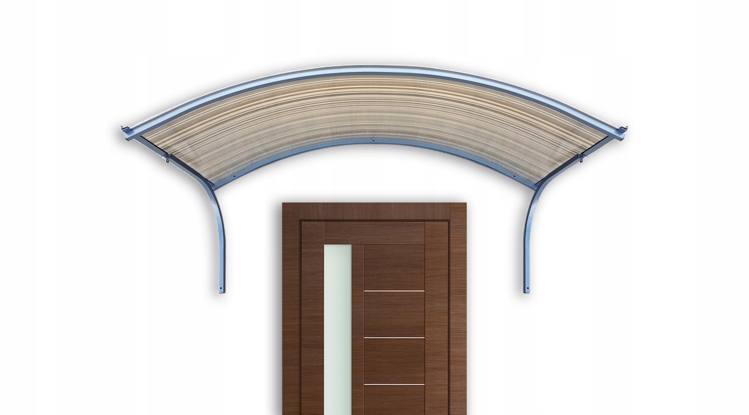 Strieška dverí 170x25x70 ral 7016