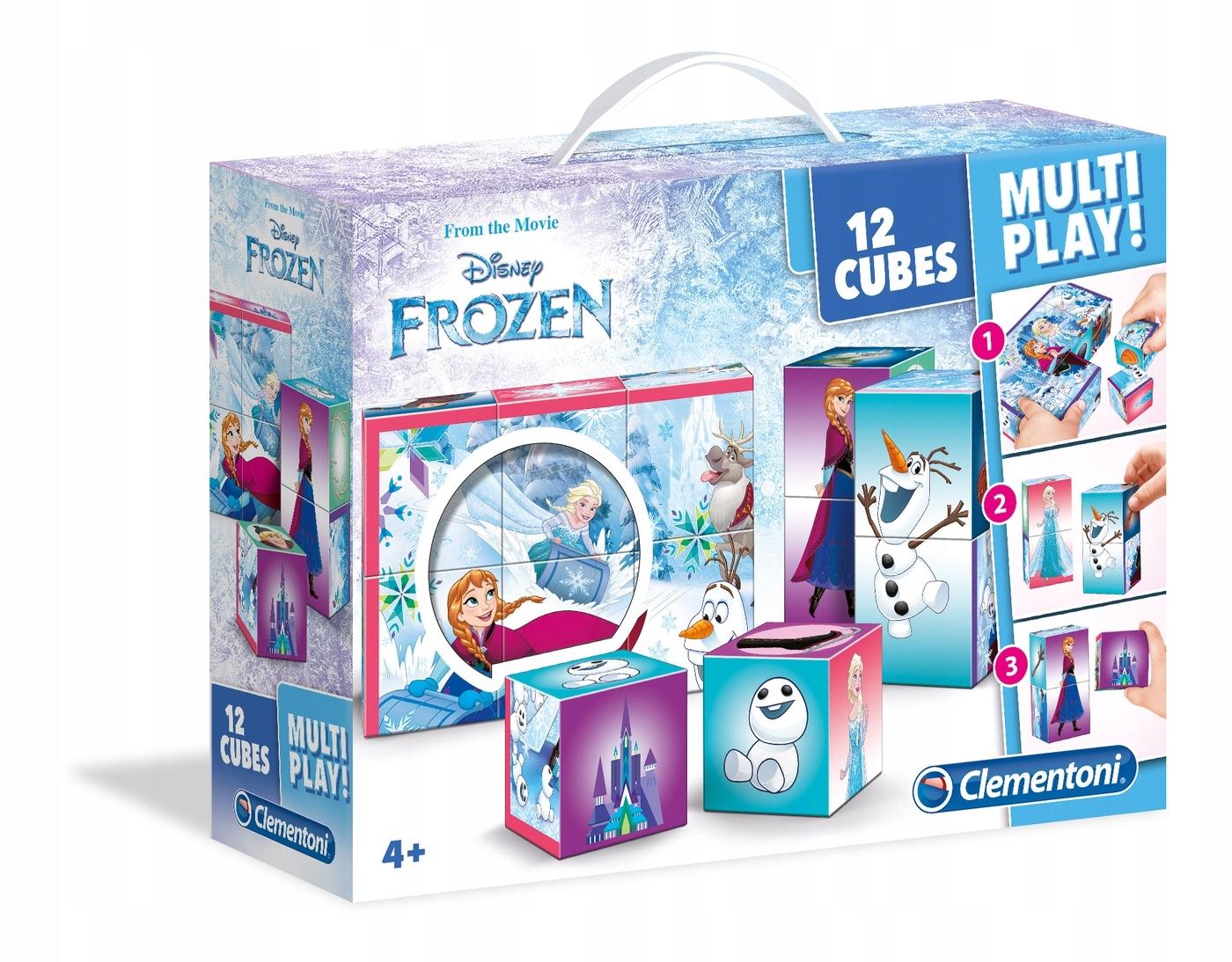 Clementoni PUZZLE BLOCKS FROZEN Frozen 4+ 12