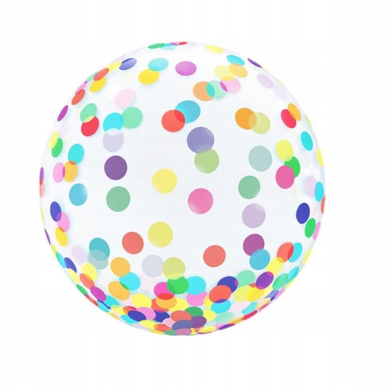 Красочный хрустальный шар в горошек - 18 дюймов
