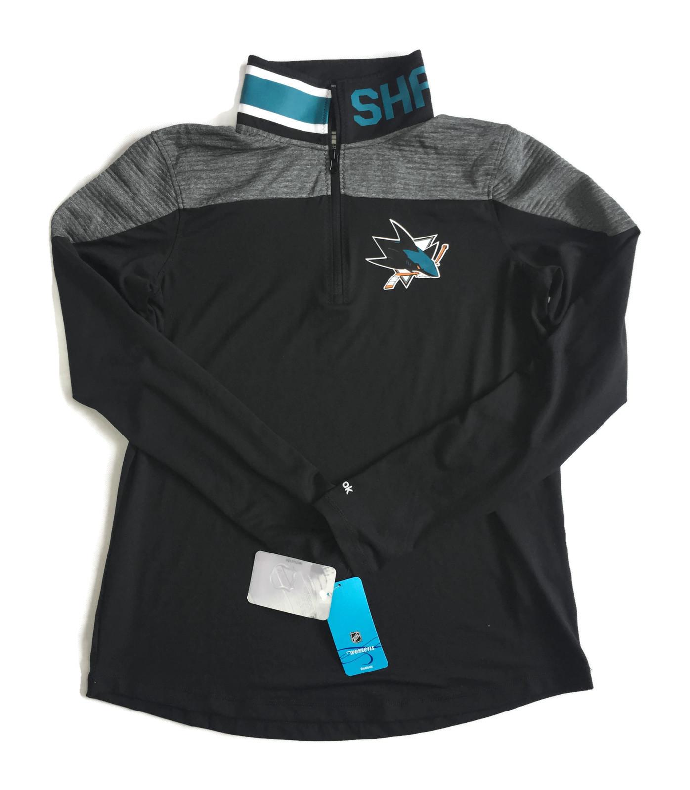 Čierna dámska mikina Reebok NHL San Jose Sharks XL