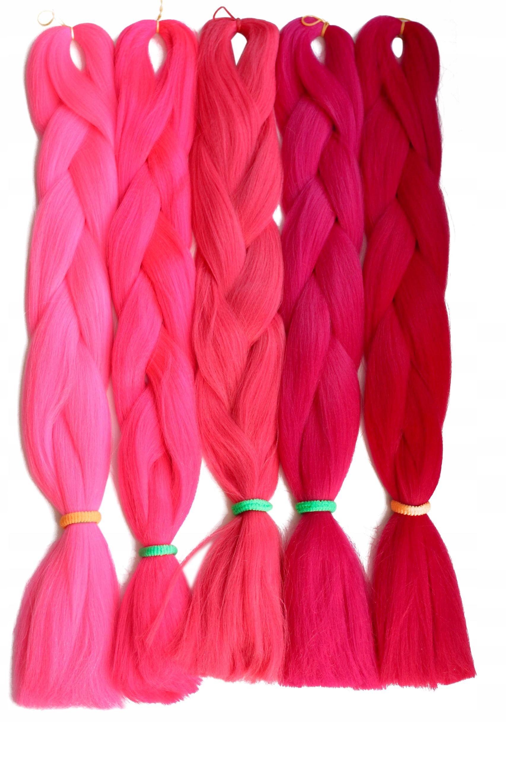 Włosy syntetyczne kolorowe warkoczyki 64 kolory