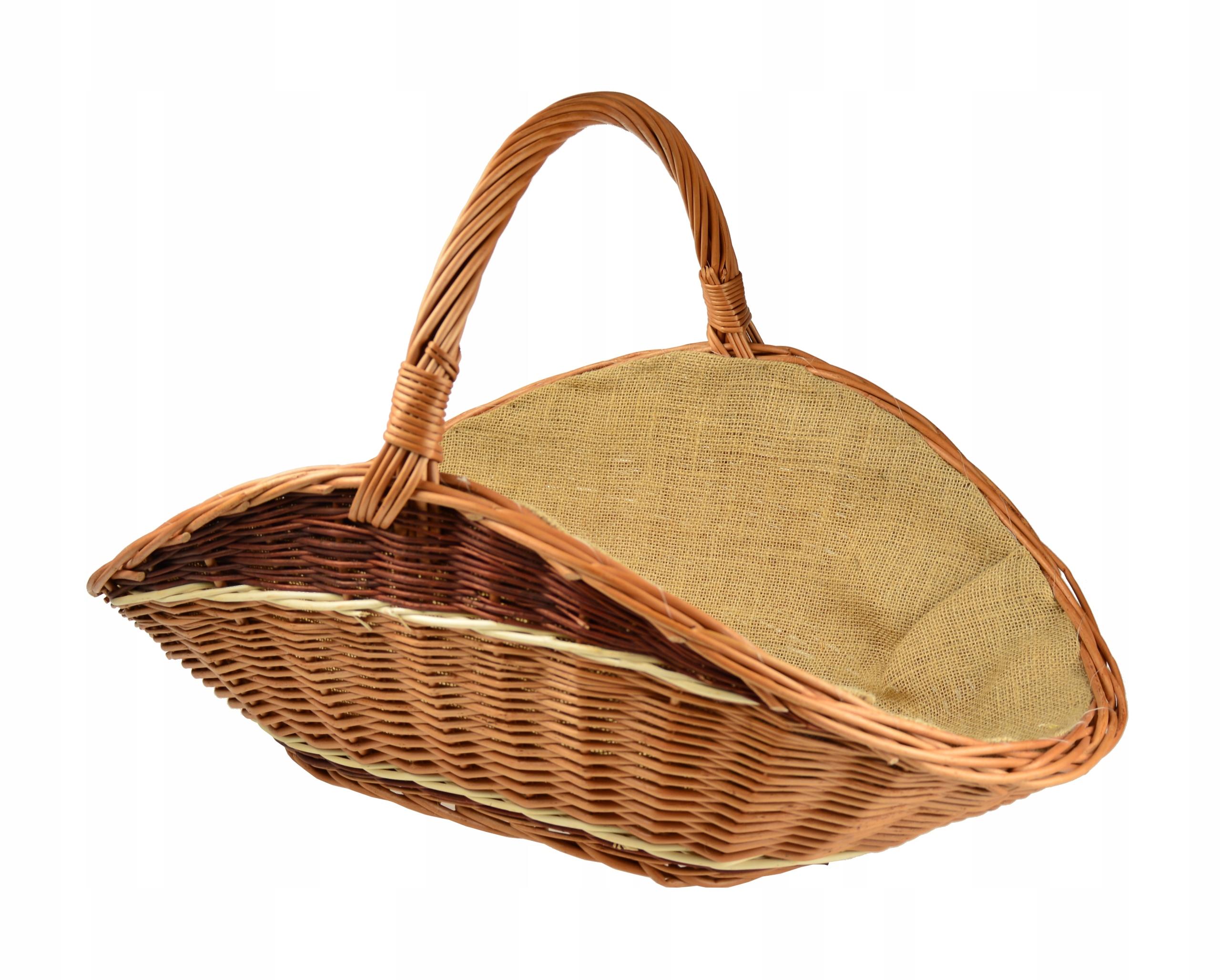 Плетеная корзина WOOD BASKET для камина Juta