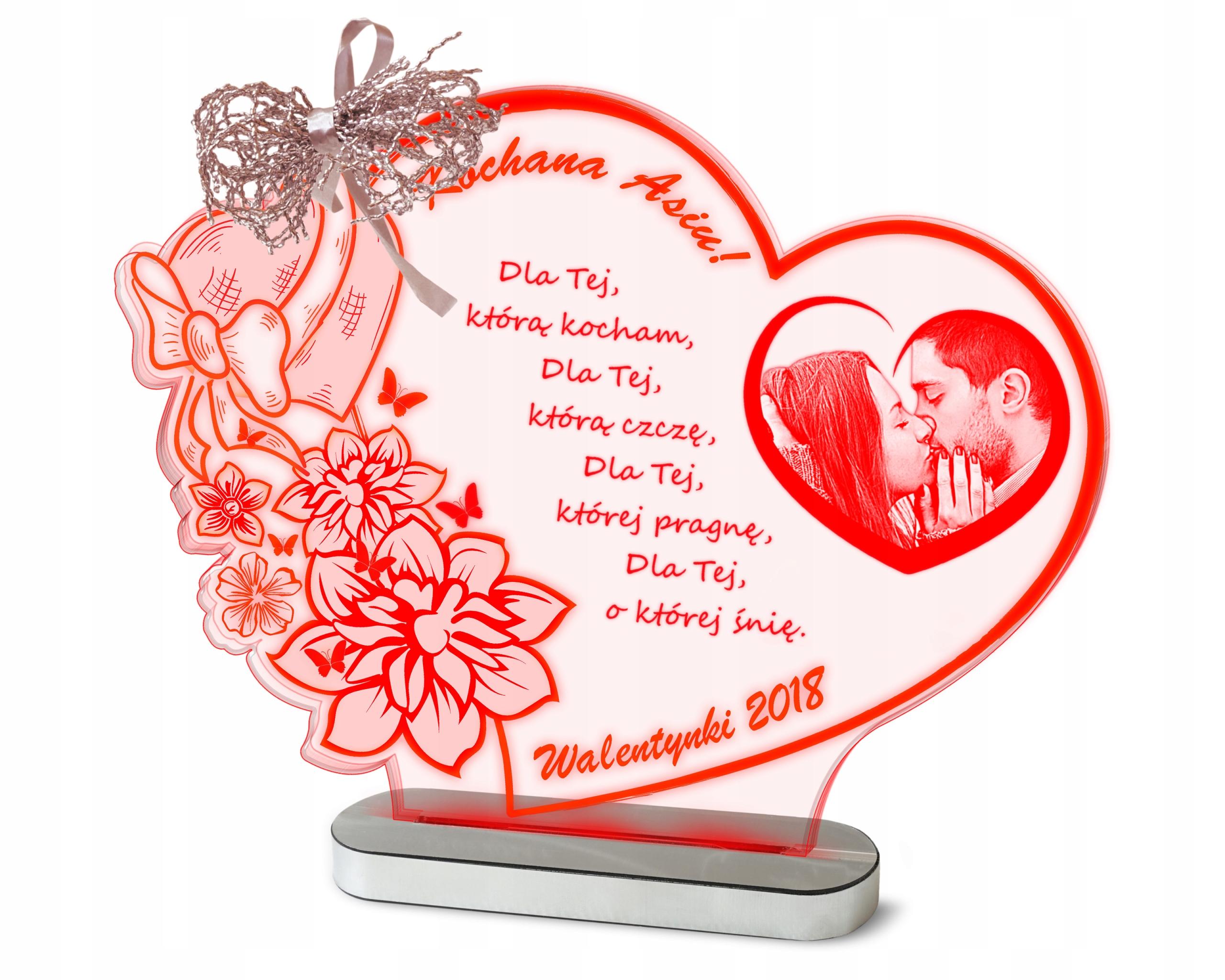 Darčekový valentínsky deň Stutette lampa + vaša fotografia