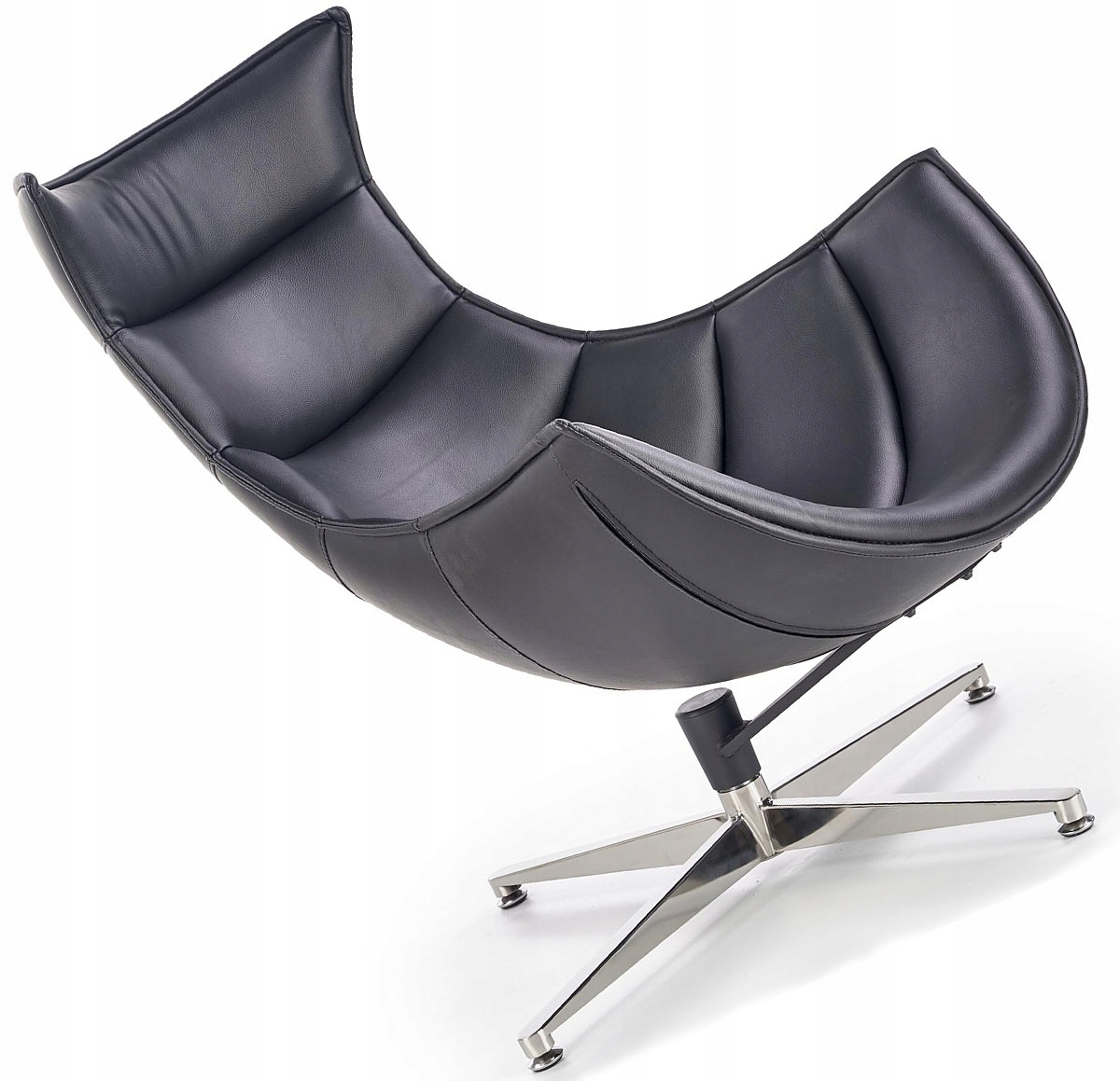 Fotel rozkładany JEFF wypoczynkowy fotele skórzany Zdjęcie