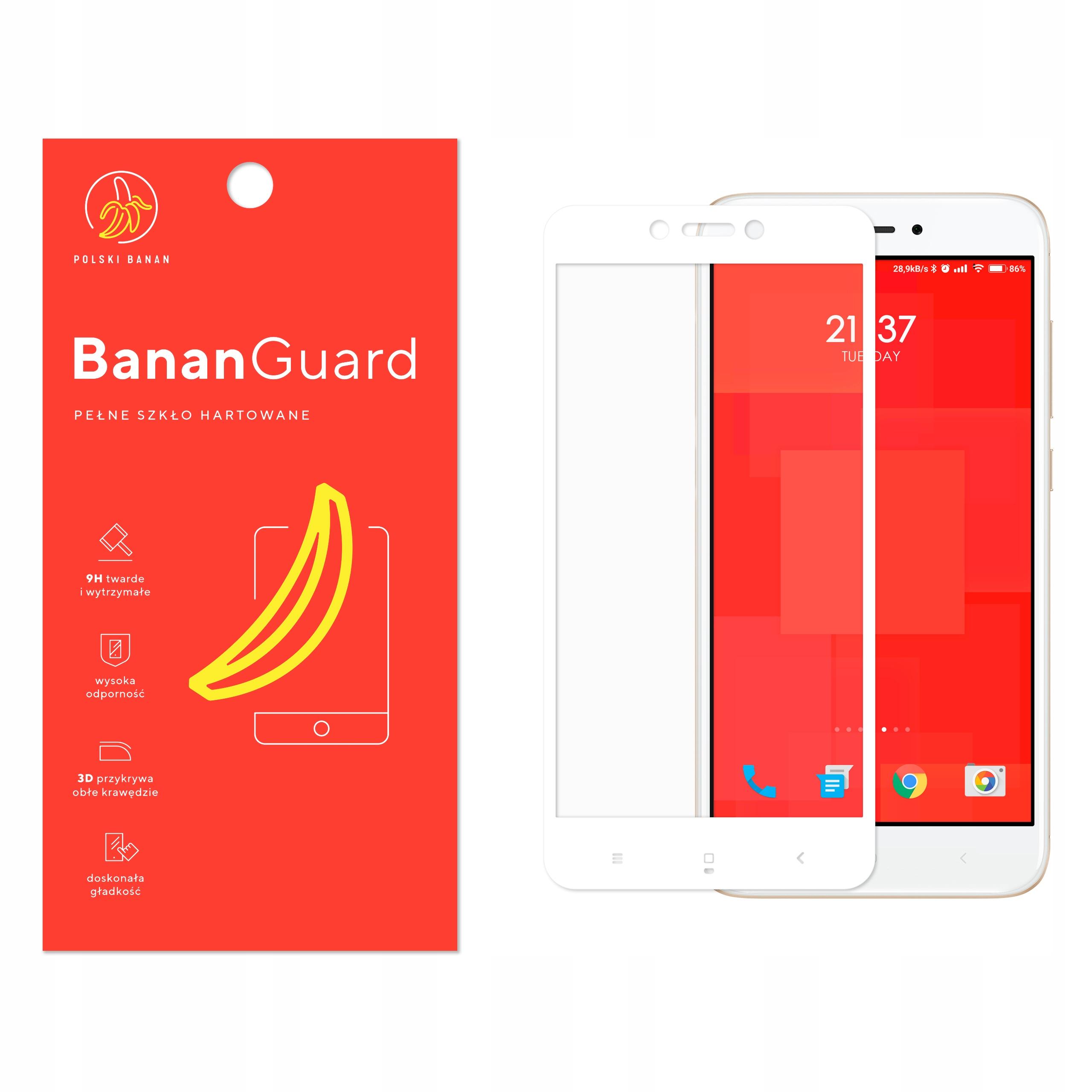 Szkło Hartowane 3D do Xiaomi Redmi 4X Białe
