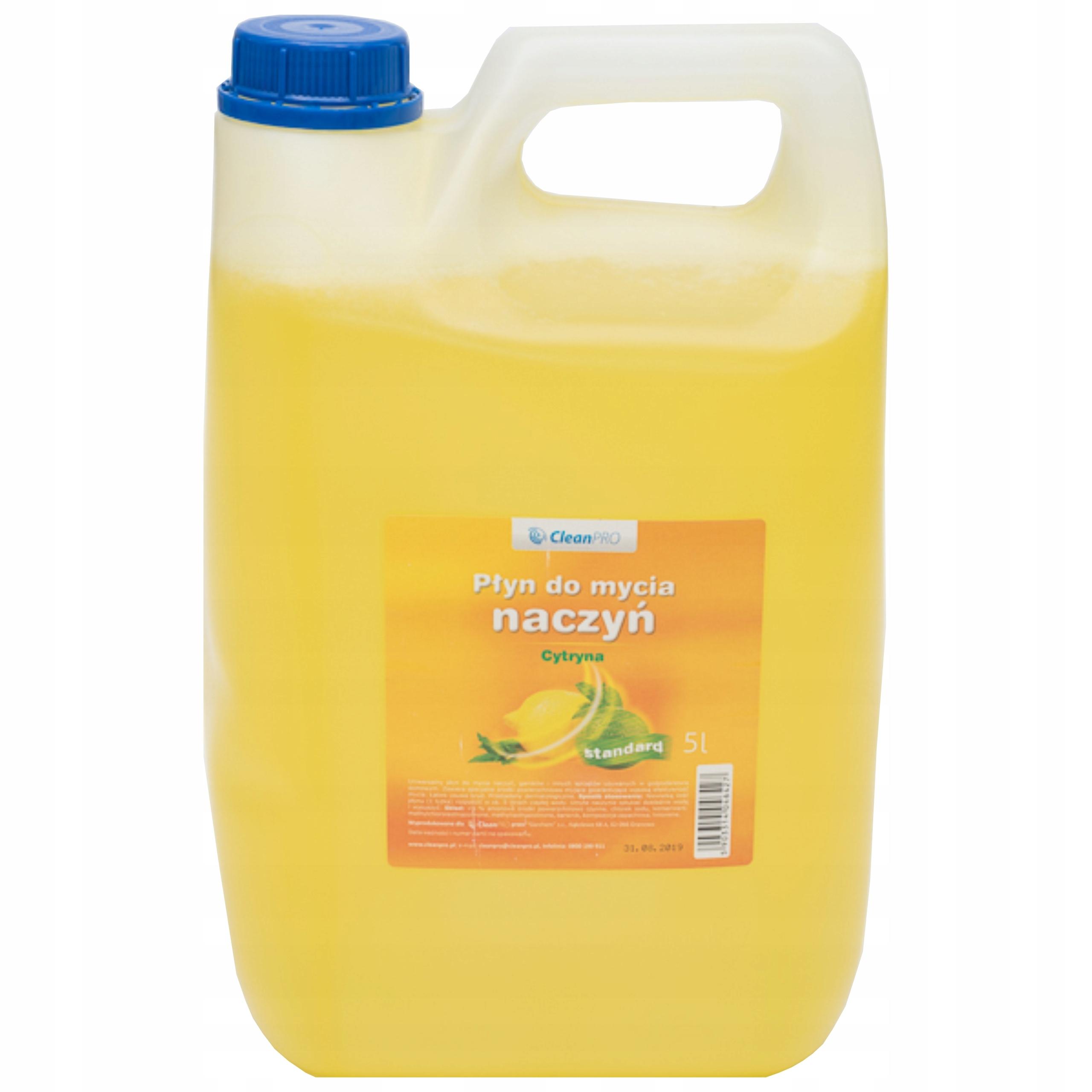 Płyn do mycia zmywania naczyń CleanPro 5l cytryna