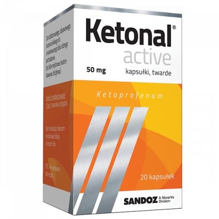 Купить Ketonal Active, 50 mg, 20 kapsułek twardych на Otpravka - цены и фото - доставка из Польши и стран Европы в Украину.