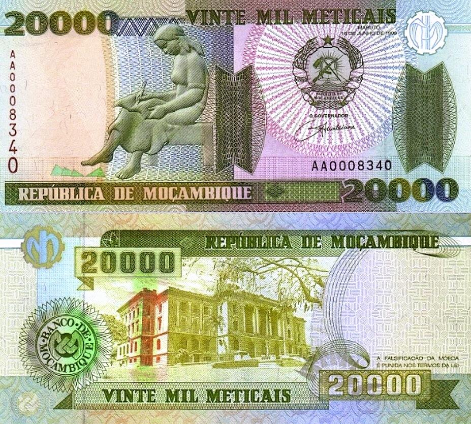 # MOZAMBIK - 20000 METICAIS - 1999 - P140 - UNC AA