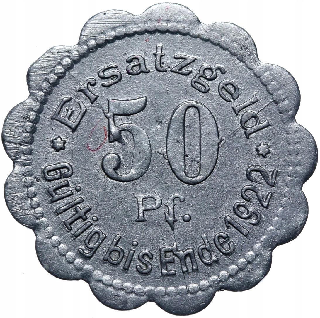 + Stettin - Szczecin - 50 Pfennig 1920 - Zinok