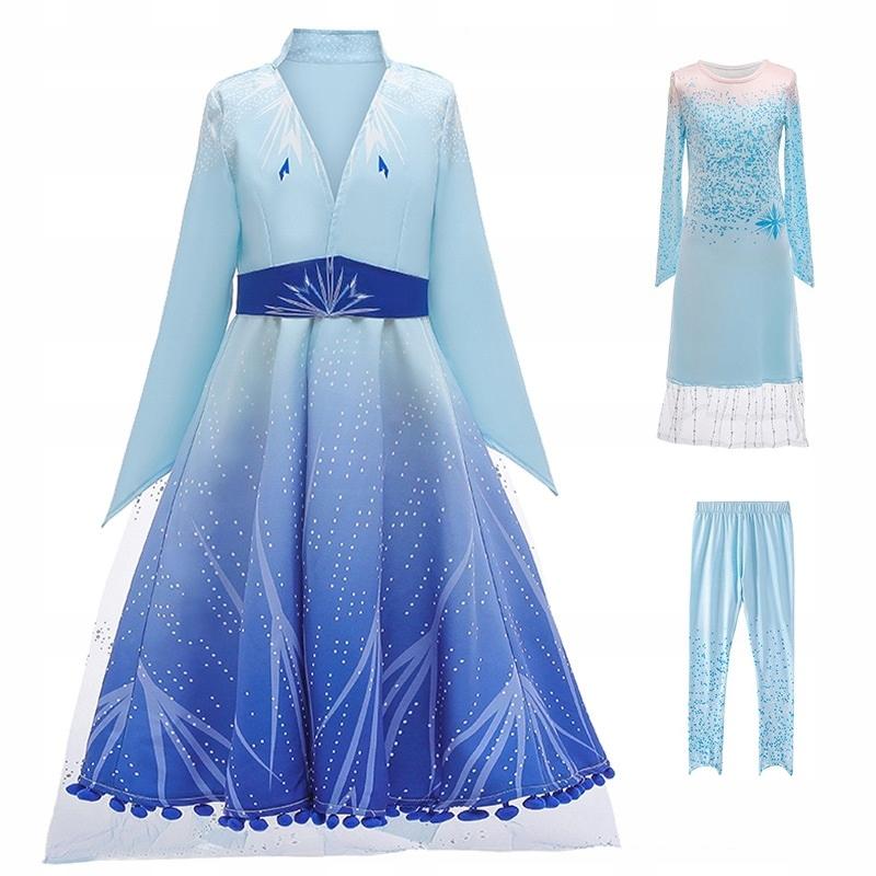 Súprava Frozen šaty Elsa Frozen 130 cm