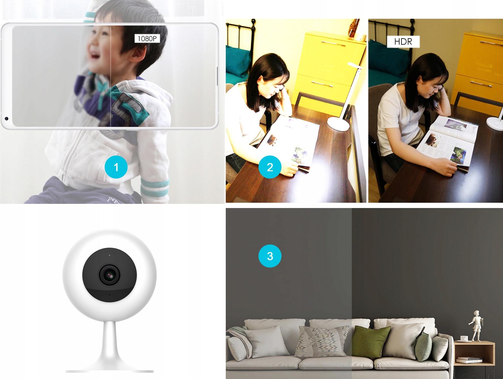 IMILAB MI HOME 1080p H.265 Kamera IP 64GB NIANIA Obudowa kopułkowa (dome)