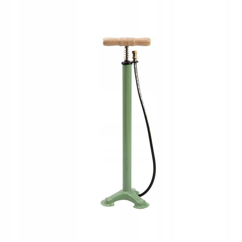 Retro pumpa na bicykel, ventil do auta, zelená