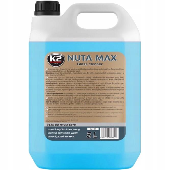 K2 НОТА MAX Жидкость для мытья СТЕКОЛ, ПЛАСТИКА 5Л M114
