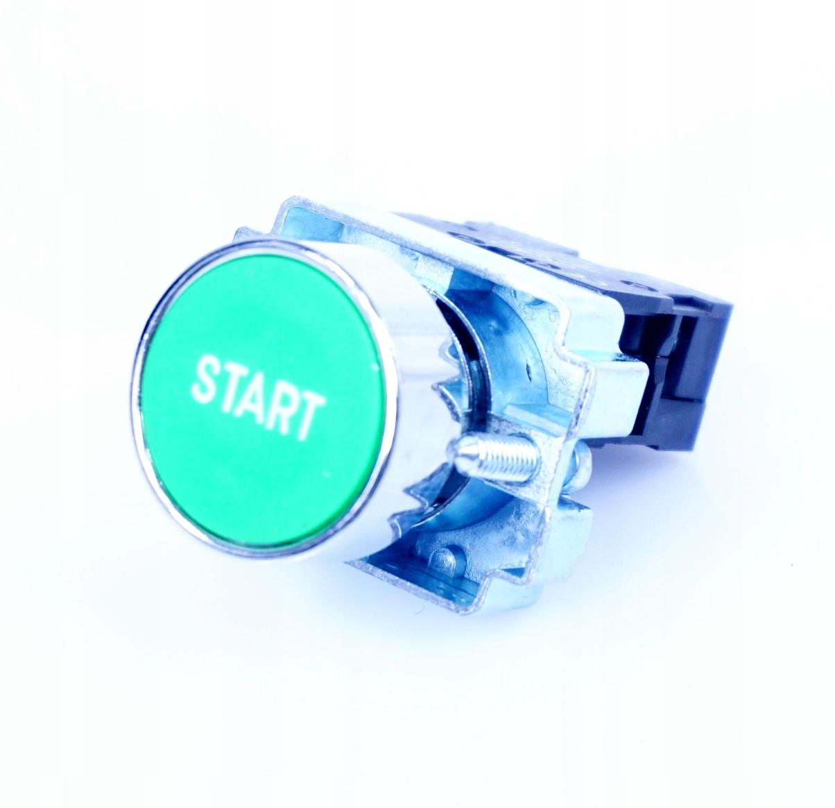 Кнопка управления Зеленый START Мгновенный fi22mm