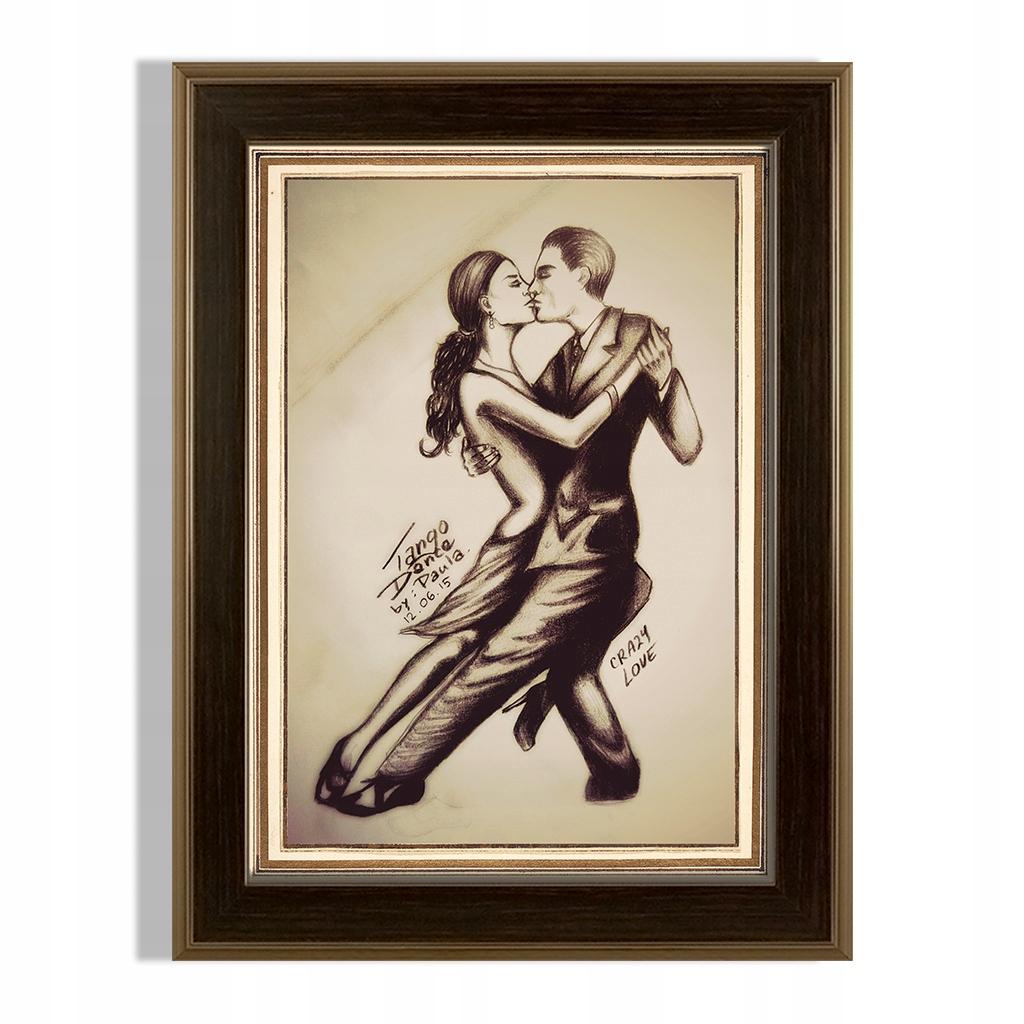 Image Tango Dance Bláznivá láska ťahaná v rámčeku