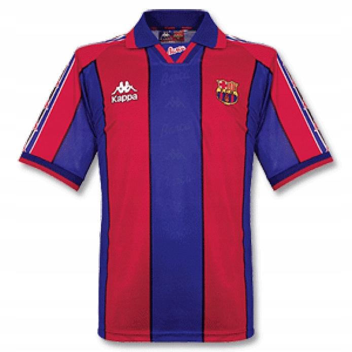 T-tričko FC BARCELONA Sezóny 1996/1997 RETRO roka. XL
